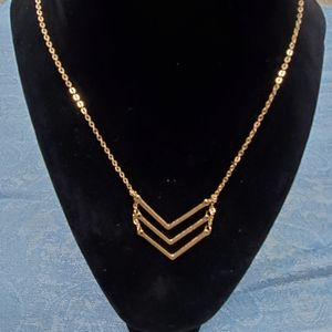 New Triple Chevron Necklace Nordstrom Goldtone
